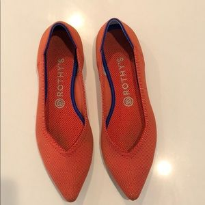 Rothy's Persimmon the point flat sz 9.5